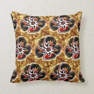 Travesseiro Textured abstrato do impressão floral Almofada