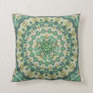 Travesseiro verde 2 do acento da mandala da traça almofada