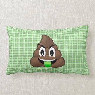 Travesseiro verde de Emoji do tombadilho da língua Almofada Lombar