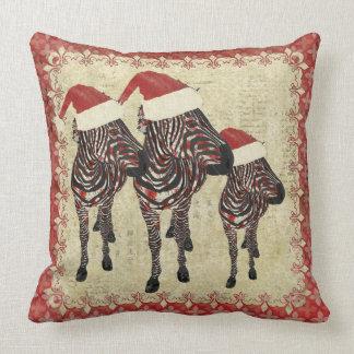Travesseiro vermelho de Mojo das zebras