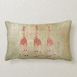 Travesseiros de MoJo dos girafas da rosa vermelha