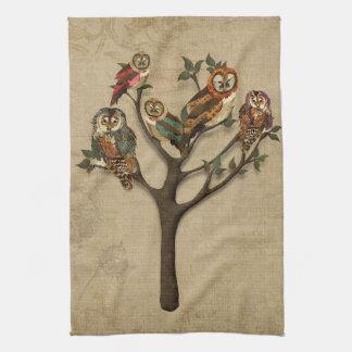 Tree of Owls Towel