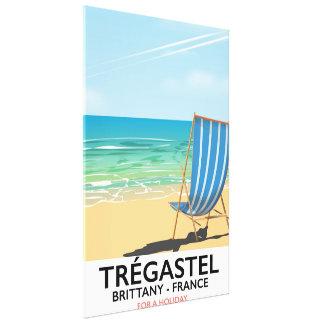 Trégastel, poster das férias da praia de Brittany