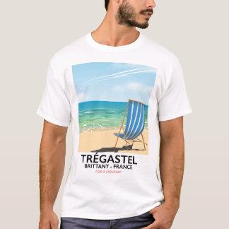 Trégastel, poster de viagens da praia de Brittany Camiseta