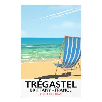 Trégastel, poster de viagens da praia de Brittany Papelaria