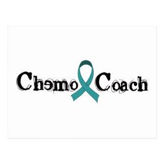 Treinador de Chemo - fita da cerceta Cartão Postal