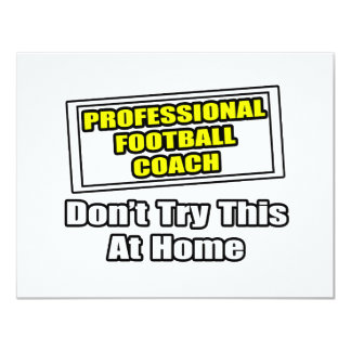 Treinador de futebol profissional. convite