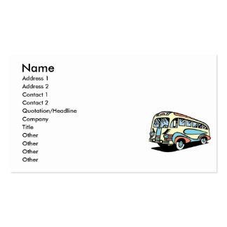 treinador de motor retro do ônibus cartão de visita