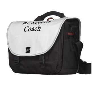 Treinador do futebol do número 1 bolsa para laptop