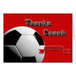Treinador do futebol dos obrigados do vermelho cartoes