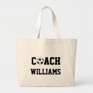 Treinador do futebol personalizado sacola tote jumbo