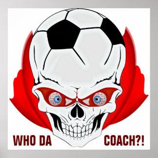 Treinador do futebol pôster