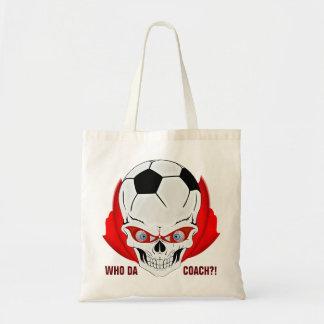 Treinador do futebol sacola tote budget