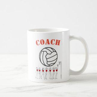 Treinador temático da equipe da bola do Netball Caneca De Café