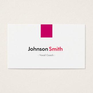 Treinador vocal - rosa cor-de-rosa simples cartão de visitas