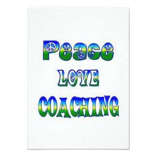 Treinamento do amor da paz convite 12.7 x 17.78cm