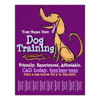 Treinamento do cão. Insecto relativo à promoção fe Panfleto Coloridos