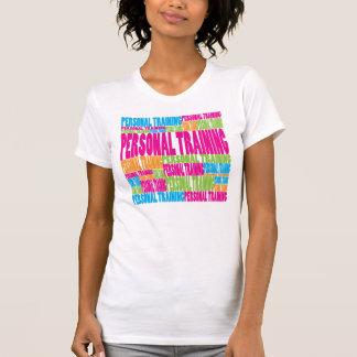 Treinamento pessoal colorido camisetas