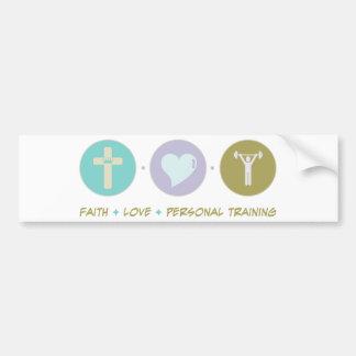 Treinamento pessoal do amor da fé adesivo para carro