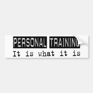 Treinamento pessoal é adesivo para carro