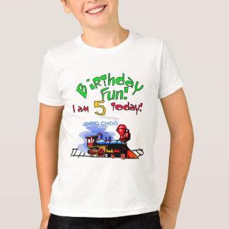 Treine o 5os camiseta e presentes do aniversário