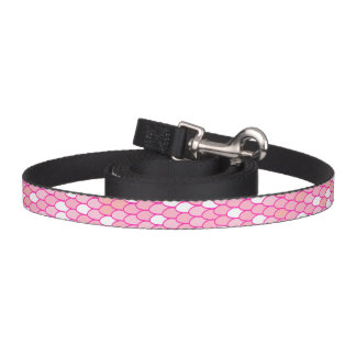Trela cor-de-rosa da escala coleira para cão