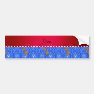 Treliça azul personalizada do boneco de neve dos adesivos
