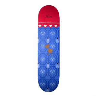 Treliça azul personalizada do boneco de neve dos shape de skate 20cm