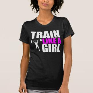 Trem como uma menina - Tshirt do ajustado da elite Camiseta