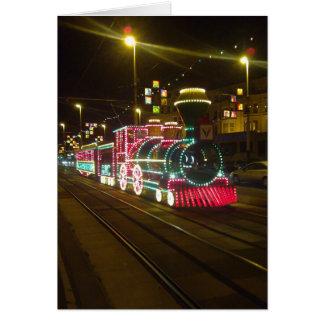 Trem do bonde - cartão das iluminações de