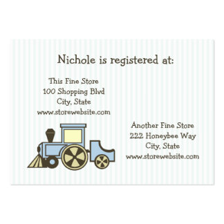 Trem do cartão do registro do chá de fraldas cartão de visita grande