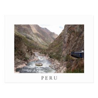 Trem do trilho do Inca ao cartão do branco de
