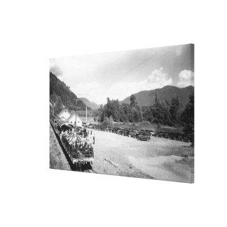 Trem do turista do projeto de Skagit Impressão De Canvas Envolvida
