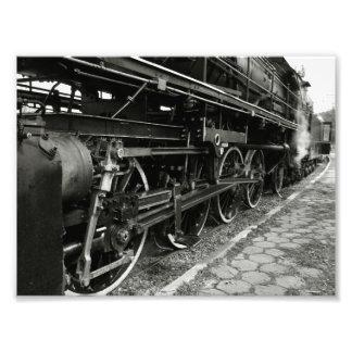 Trem do vapor do vintage impressão de foto