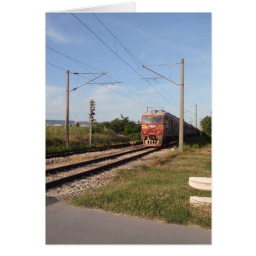 Trem elétrico cartao