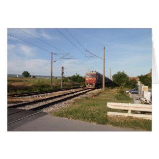 Trem elétrico cartão comemorativo