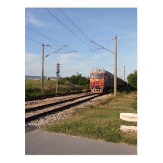 Trem elétrico cartão postal