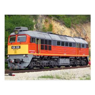 Trem húngaro da locomotiva diesel M62 Cartão Postal