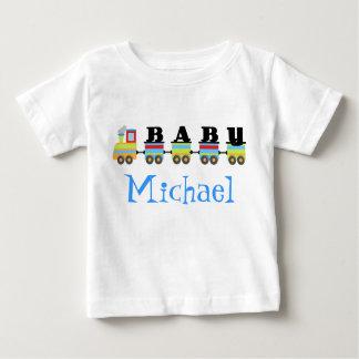 Trem personalizado de Michael do bebê T-shirts