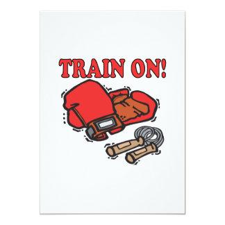 Trem sobre convite