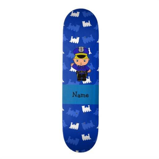 Trens conhecidos personalizados do azul do polícia skate boards