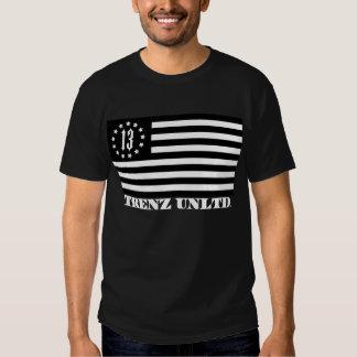 Trenz Unltd. - 13 estrelas & T do preto da T-shirt