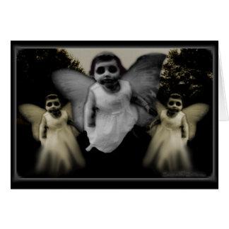 Três anjos cartão comemorativo