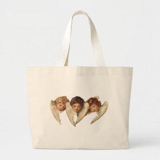 Três anjos da criança - arte do kitsch do vintage bolsas de lona