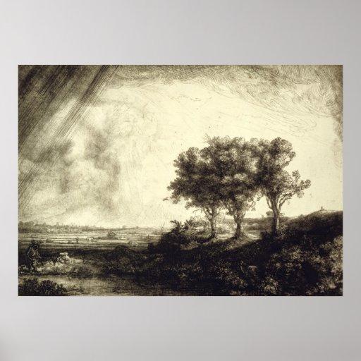 Três árvores - Holland 1643 Impressão