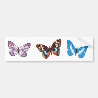 Três borboletas adesivo para carro