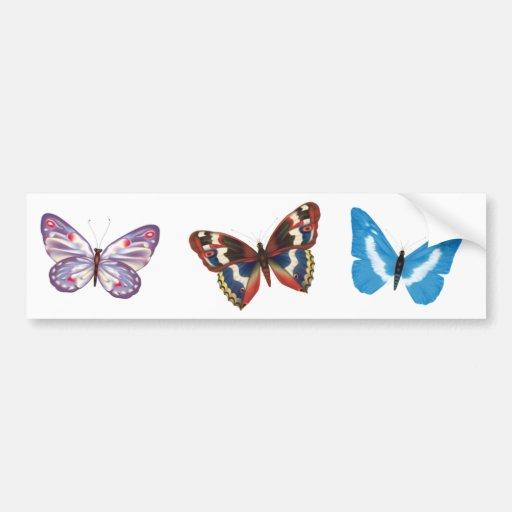 Três borboletas adesivos