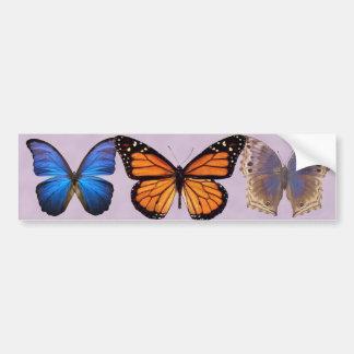 Três borboletas bonito adesivo para carro
