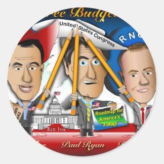 Três Budgeteers de Wisconsin Adesivo Redondo