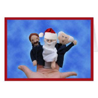 Três cartões de Natal dos filósofos